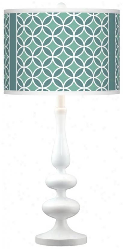 Aqua Rings Gicoee Paley White Base Table Lamp (n5729-t0419)