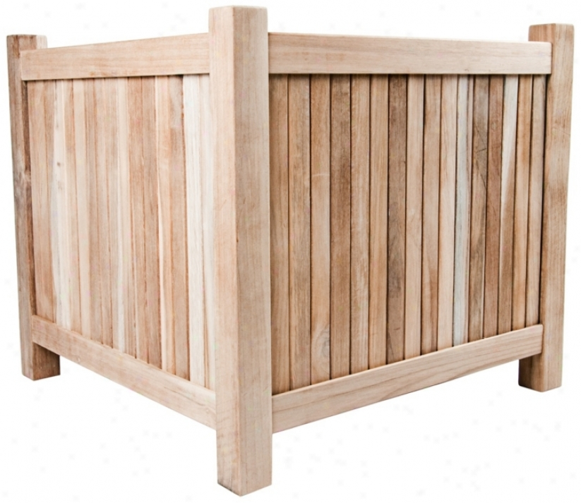 Arbora Teak Wood Outdoor Planter (u1326)