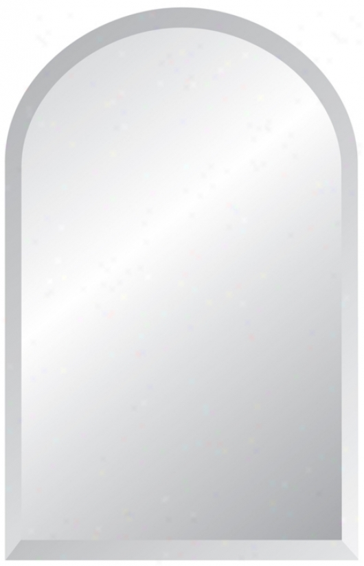 "Arch Frameless Beveled 36"" High Mirror (p1442)"
