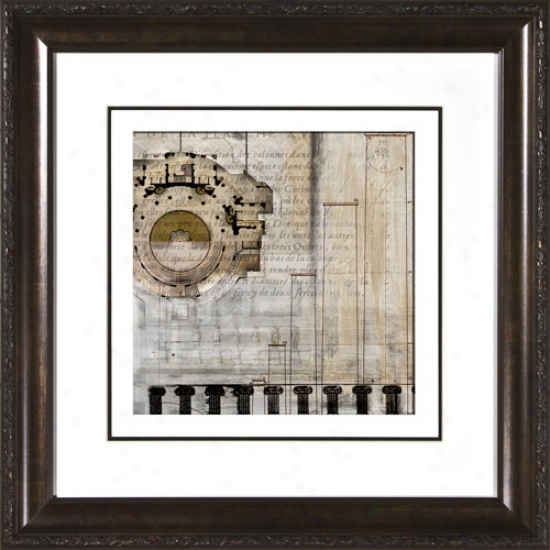 """Architectural Details I Under Glass 19 /12"""" Square Wall Art (h1910)"""