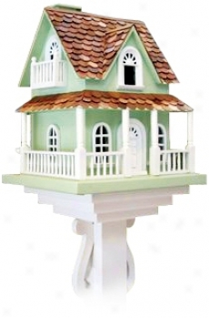 Archtop Windows Country Bird House (h9560)