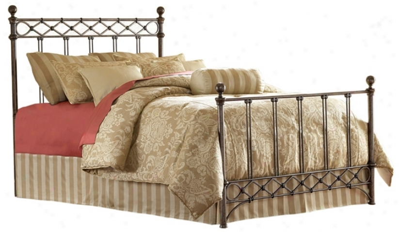 Argyle Metal Poster Bed (king) (p8290)