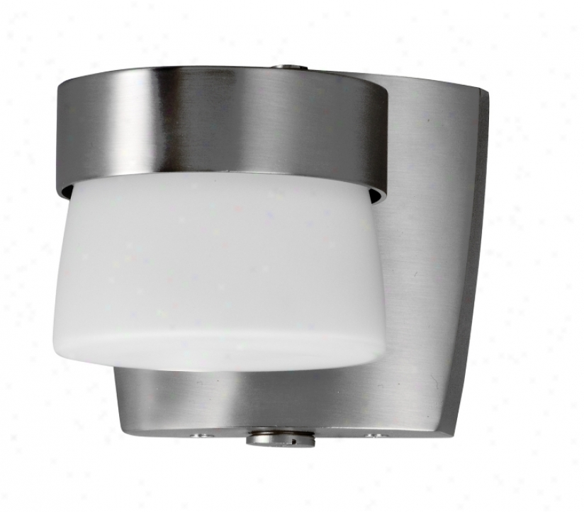 "Aria 4 3/8"" High Energy Efficient Nickel Outdoor Wall Sconce (g2634)"