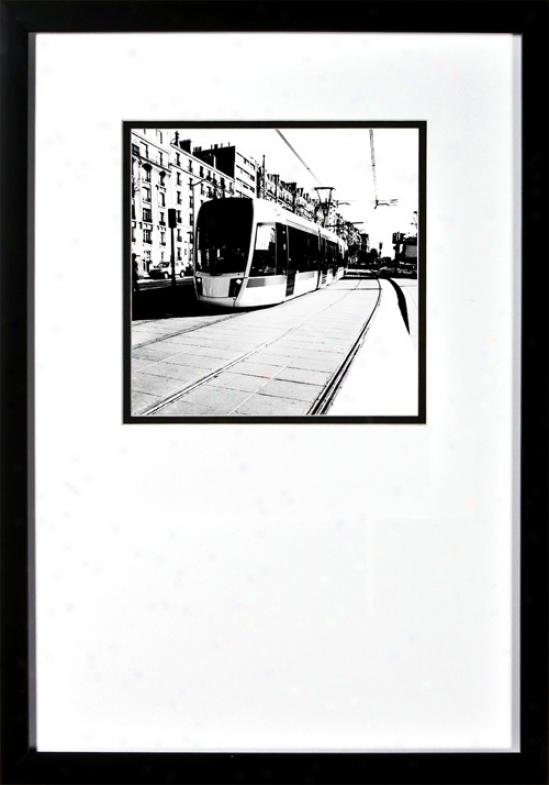 "Around Tosn Iui Streetcar Under Glass 22"" High Wall Art (h1894)"