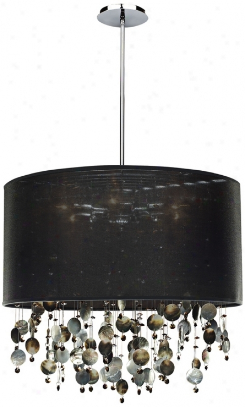 "Around Town Pearl And Wicked 24"" Wide Pendant Chandelier (u5478)"