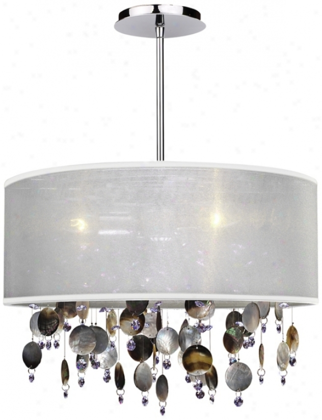 "Around Town Pearl And White 18"" Wide Pendant Chandelier (u5123)"