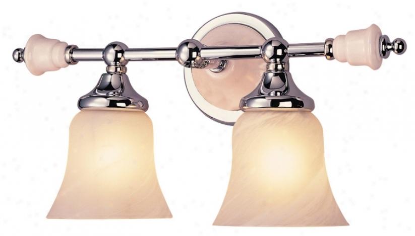 "Art Deco 15"" Wide Ceramic Accents Bathroom Light Fixture (58265)"