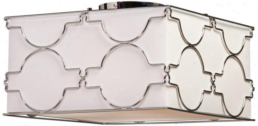 """Artc5aft Lighting Morocco 16"""" Remote Chrome Ceiling Light (v9114)"""
