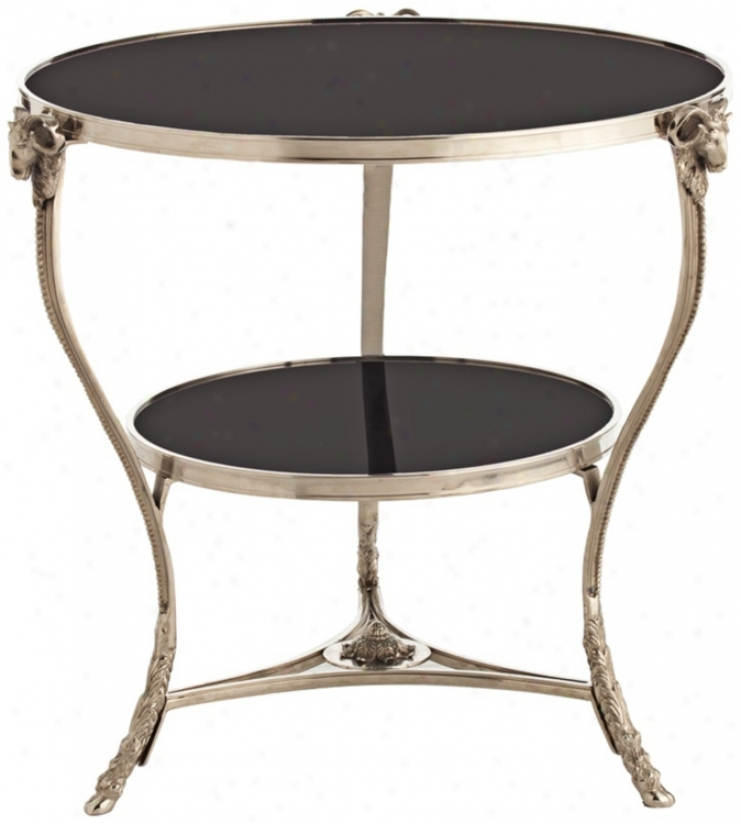 Arteriors Home Aries Polished Nickel & Marble Table (r8530)