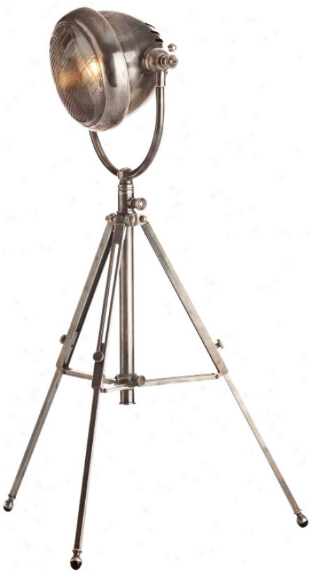 Arteriors Home Kamaro Vintage Silver Tripod Table Lamp (r6139)