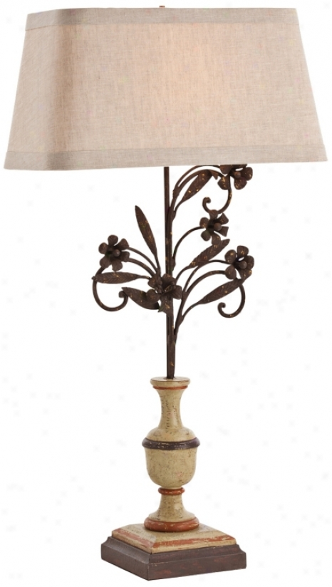 Arteriors Home La Rochelle Wood Buffet Lamp (v5049)
