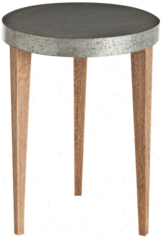 Arteriors Home Nolan Meatl Clad Wood Accent Table (u2281)