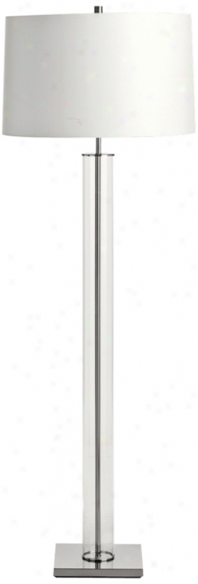 Arteriors Home Norman Glass And Polished Nickel Floor Lamp (u2969)