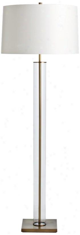Arteriors Close Norman Glass And Vintage Brass Floor Lamp (u2970)