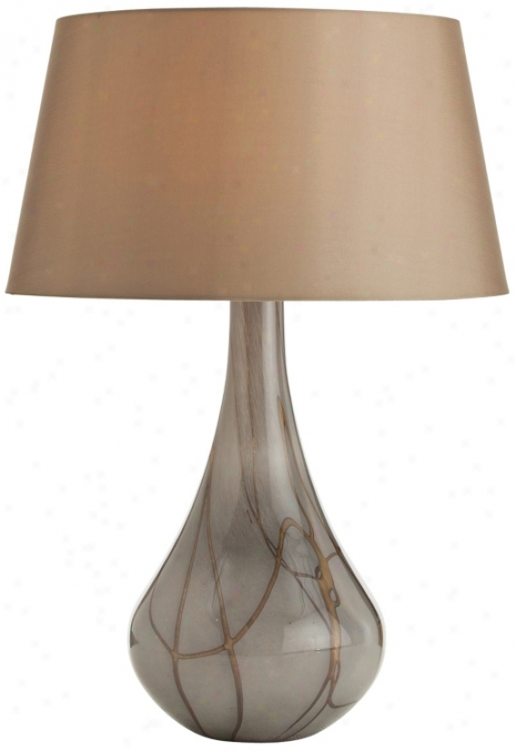Arteriors Home Overton Caramel Smoke Glass Table Lamp (v5096)