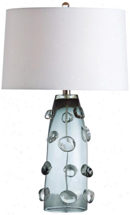 Arteriors Home Poppy Tall Gray Glass Table Lamp (v5097)
