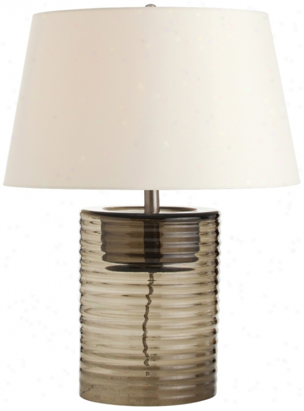 Arteriors Home Rhett Smoke Ribbed Glass Table Lamp (v5101)