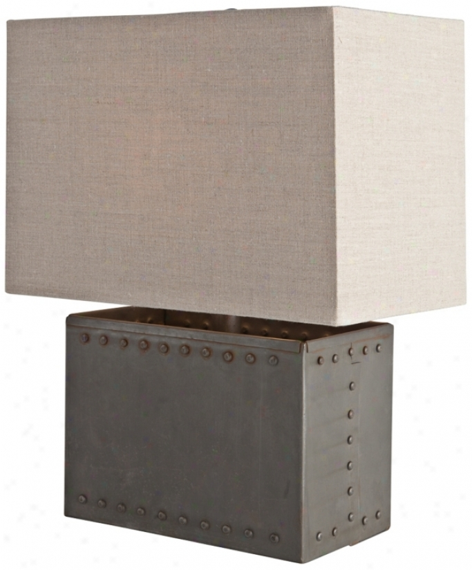 Arteriorrs Home Richland Riveted Unaffected Iron Table Lamp (v5067)