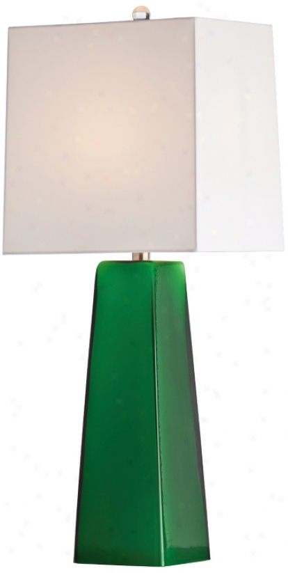 Arteriors Home Roma Emerald Cased Glass Table Lamp (v5089)