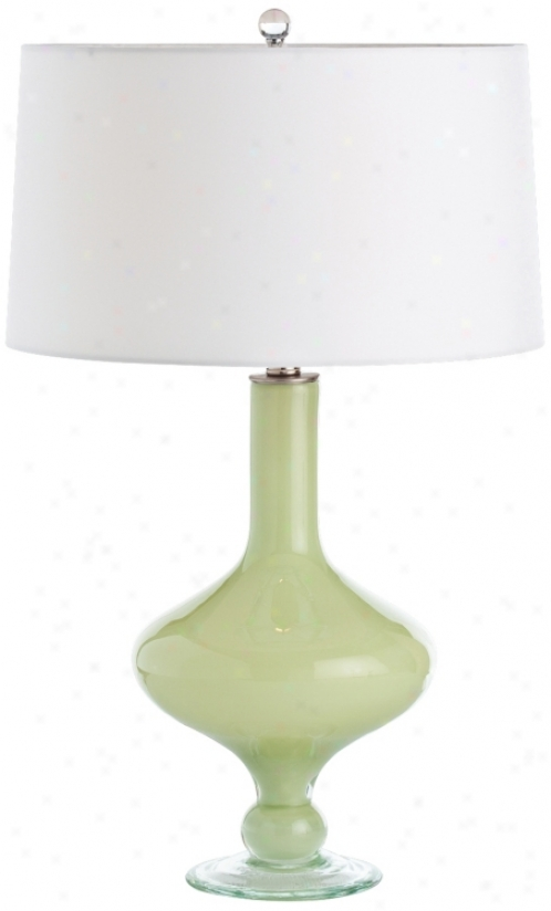 Arteriors Home Rory Key Lime Glass Table Lamp (v5092)