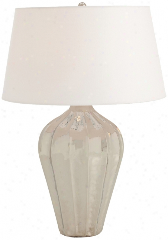 Arteriors Home Shelby Fluted Polished Nicksl Table Lamp (v5120)