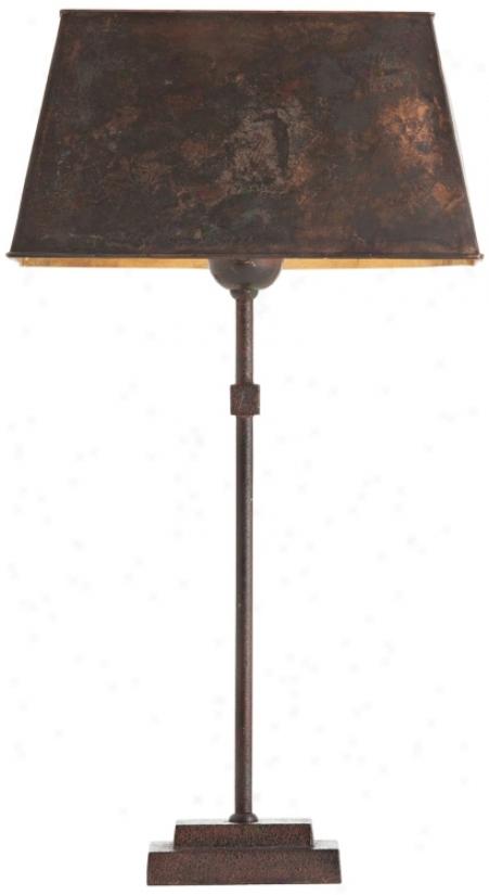 Arteriors Home Stewart Rust Iron Table Lamp (v5070)