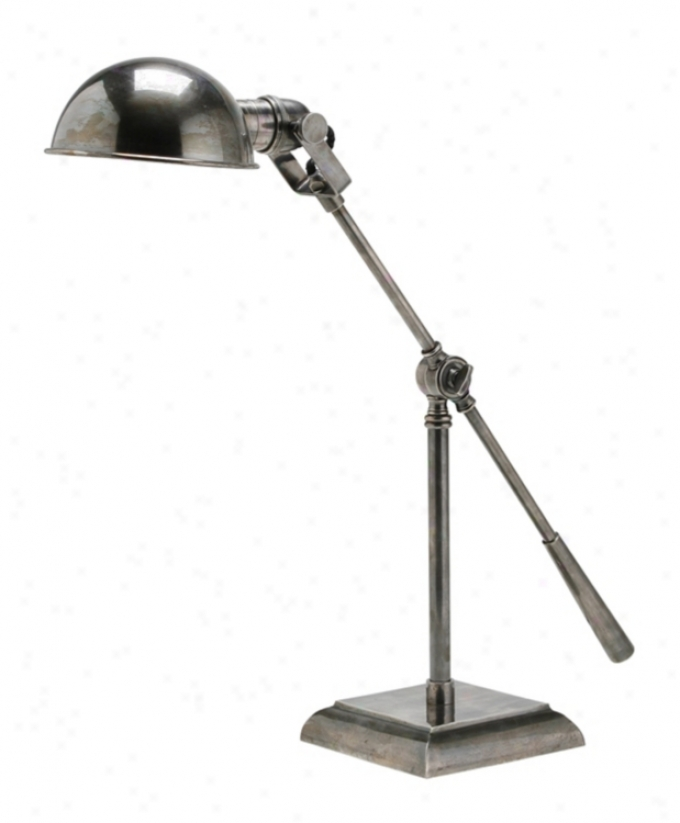 Arteriors Nome Silvery Swing Arm Desk Lamp (18332)