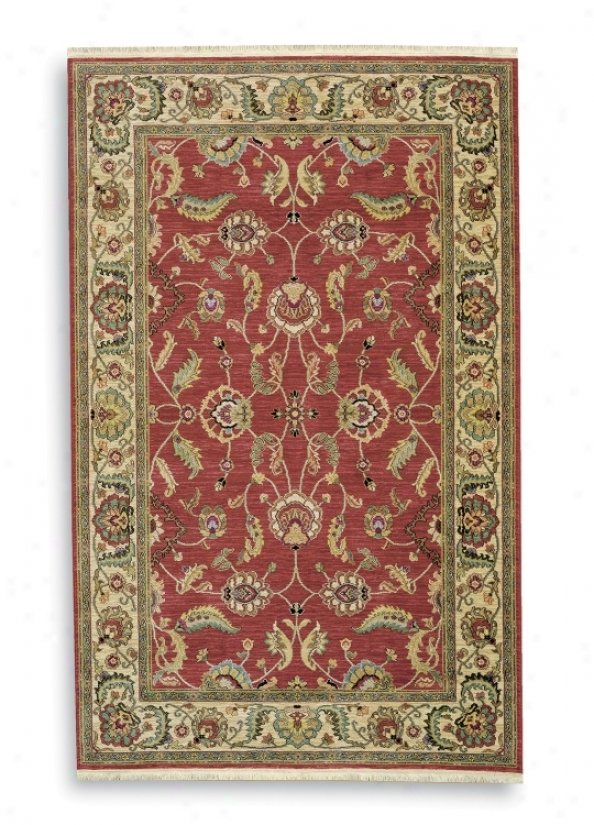 "Ashara Collection Agra Red 2'6""x12' Karastan Area Rug (v4381)"