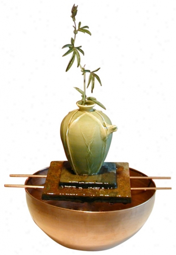 Asian Tree Frog Vase Fountain (98584)