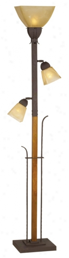 Aspen Grove Torchiere Prevail over Lamp (f6017)