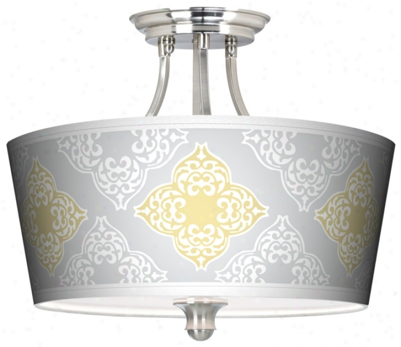 Aster Grey Tapered Drum Gicl3e Ceiling Light (m1074-p6005)