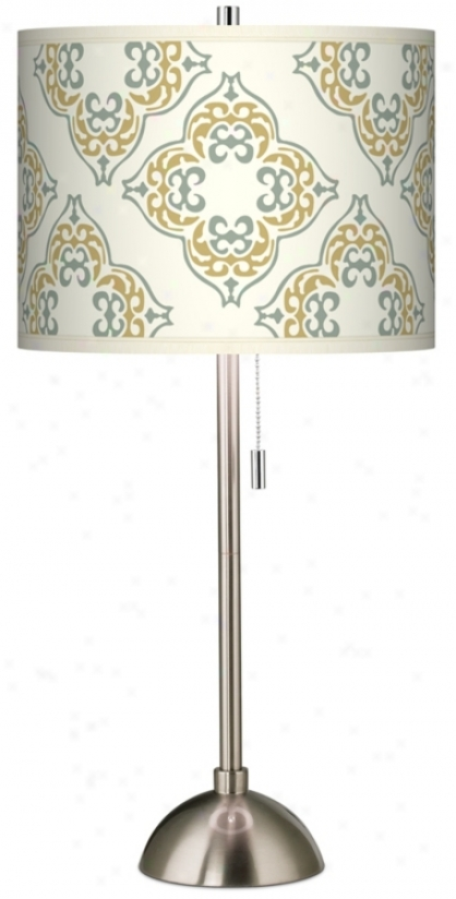 Aster Ivory Giclee Shade Table Lamp (60757-p6042)