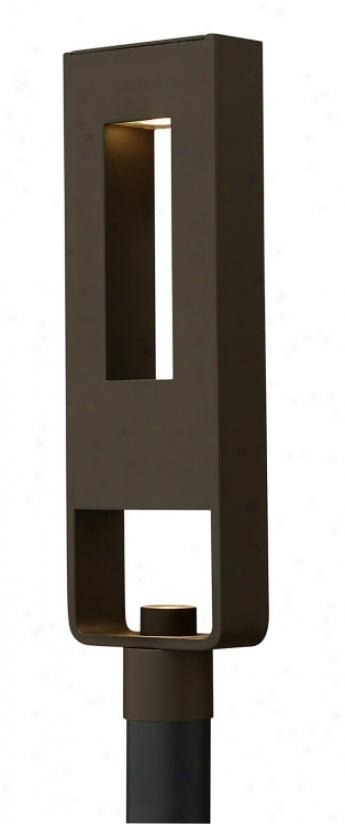 "Atlantis Collection 23 1/2"" High Bronze Outdoor Pillar Light (78719)"