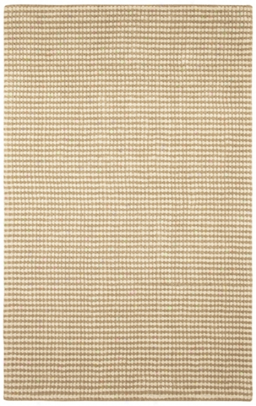 "Auckland Collection Buttermilk Wool 2'6""x8' Runner (m0957)"