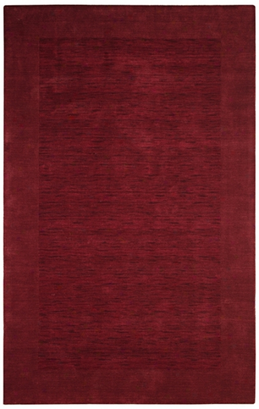 "Auckland oCllection Cabernet Red Wool 2'6""x8' Runner (k8235)"