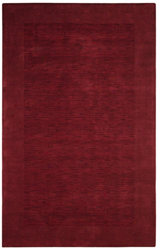 Auckland Collection Cabernet Red Wool 2'x3' Area Rug (k8230)