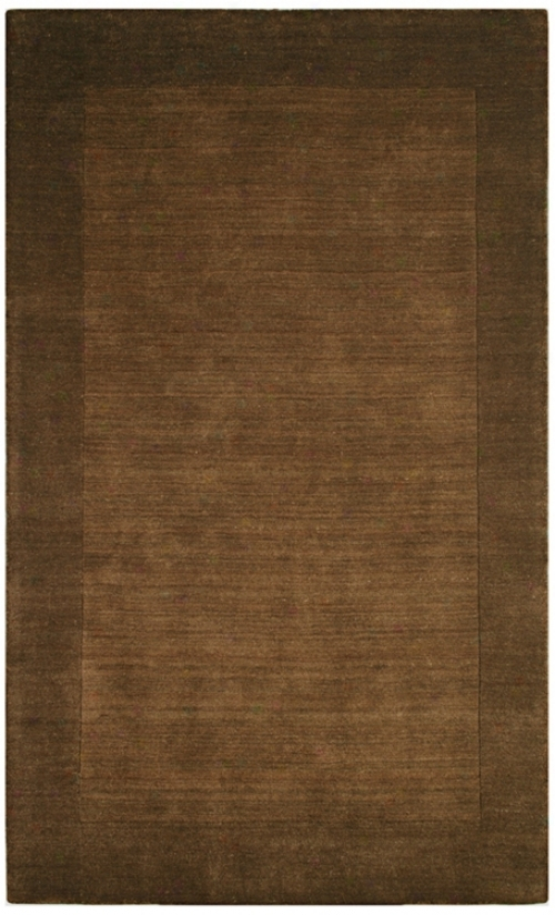 Auckland Collection Chocolate Brown Wool 2&'x3' Area Rug (k82252)