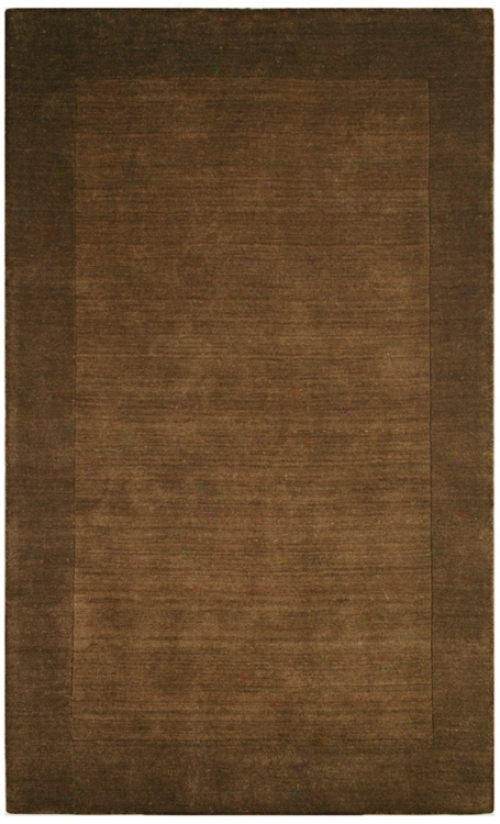 Auckland Collection Chocolate Brown Wool 3'x5' Area Rug (k8253)