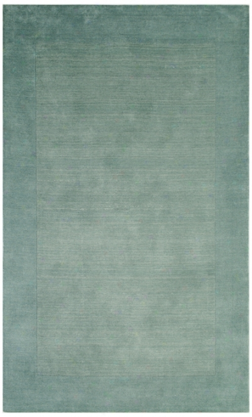 Auckland Collection Glacier Light Blue Wool 2'x3' Area Rug (k8244)