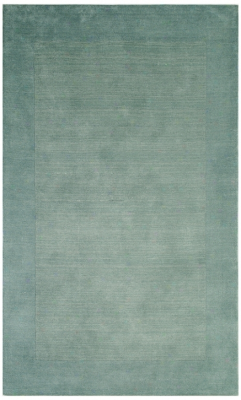 Auckland Collection Ice-torrent Light Blue Wool 8'x10' Area Rug (k8247)