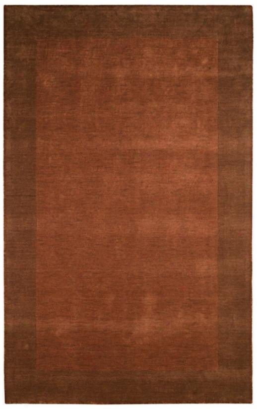 Auckland Accumulation SangriaT erracotta Wool 3'x5' Area Rug (k8240)
