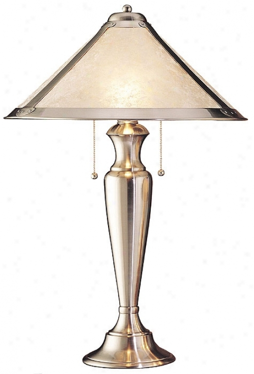 Aurora Collection Silver Mission Table Lamp (83183)