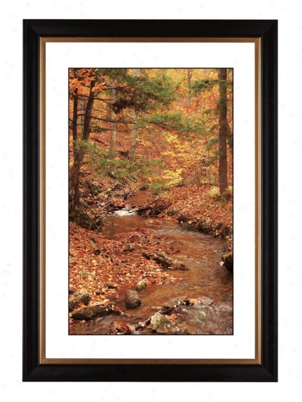 """Autumn Rivulet Giclee 41 3/8"""" High Wall Art (57663-80384)"""