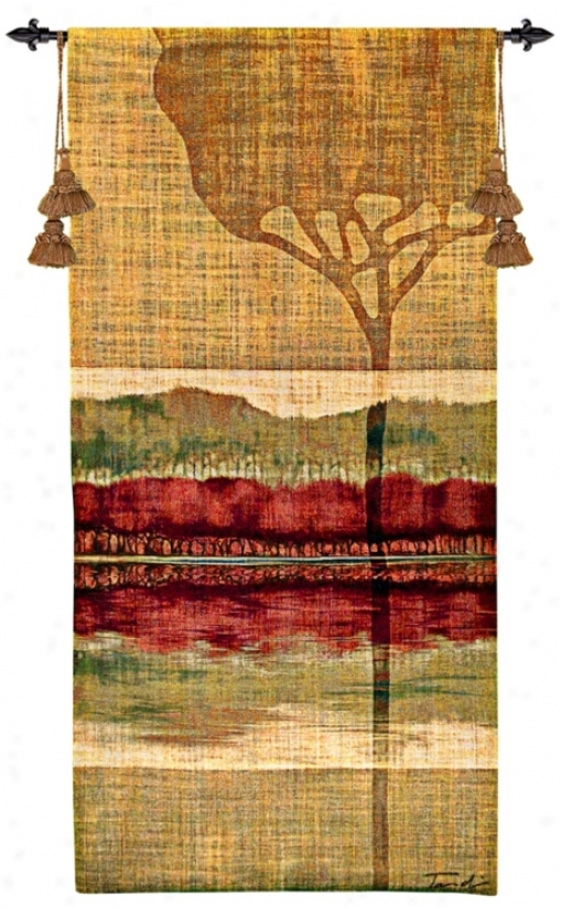 Fall Collage Ii 51&qjot; High Wall Hanging Tapestry (j9032)