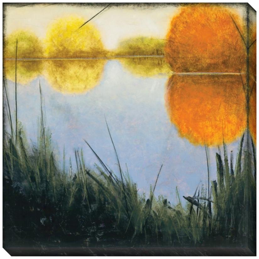 """Autumn Marsh Ii Indoor/outdoor 40"""" Square Wall Art (l0609)"""