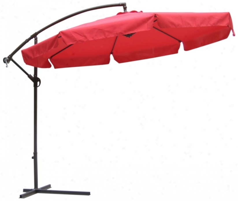 Autumn Red And Brown Steel Offset Mqrket Tzble Umbrella (t4741)