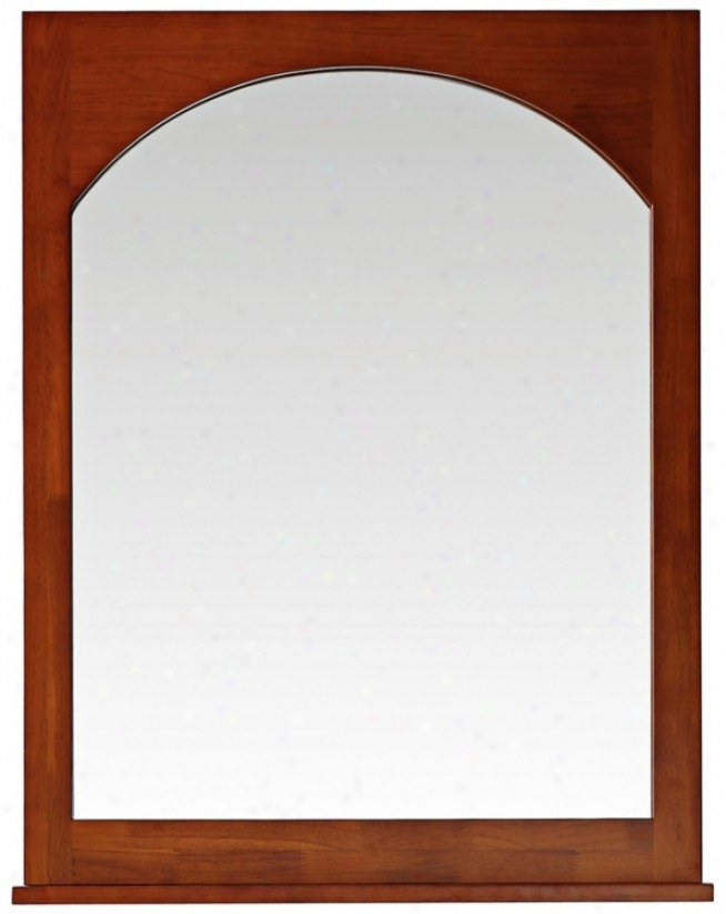"Avanity Kent 28"" Wide Chestnut Finish Wall Mirror (v4894)"