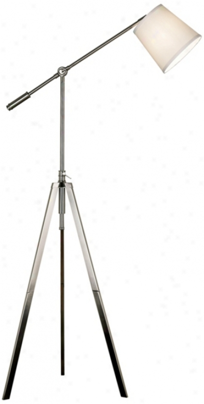 Axel Balance Arm Brushed Nickel Tripod Floor Lamp (h9533)