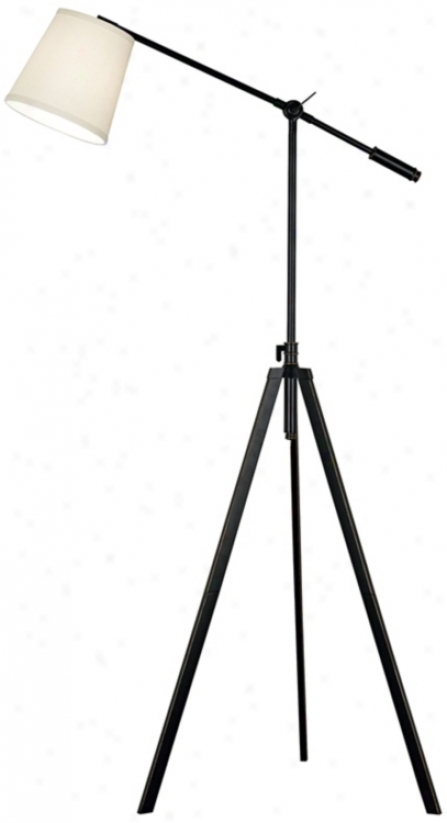Axel Balance Arm Oil-rubbed Bronze Tripod Floor Lamp (h9534)