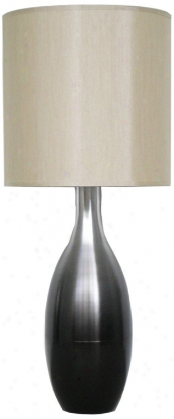 Babette Holland Juggler Smoke Fade Modern Table Lamp (v5276)